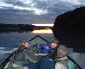 Crossing Skilak Lake October 18
