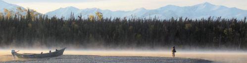 Fall morning on the Kenai River, Alaska