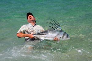 Very happy angler