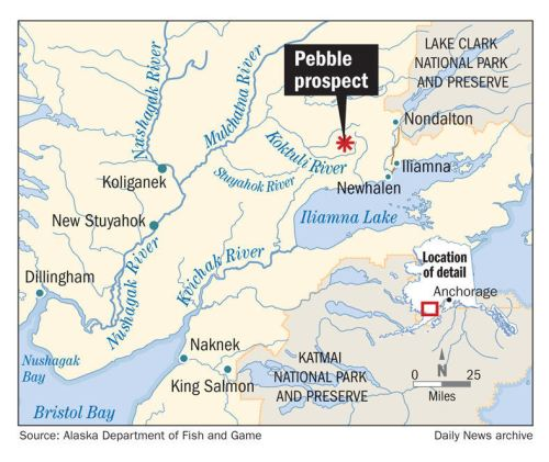 Where is the proposed Pebble Mine located?
